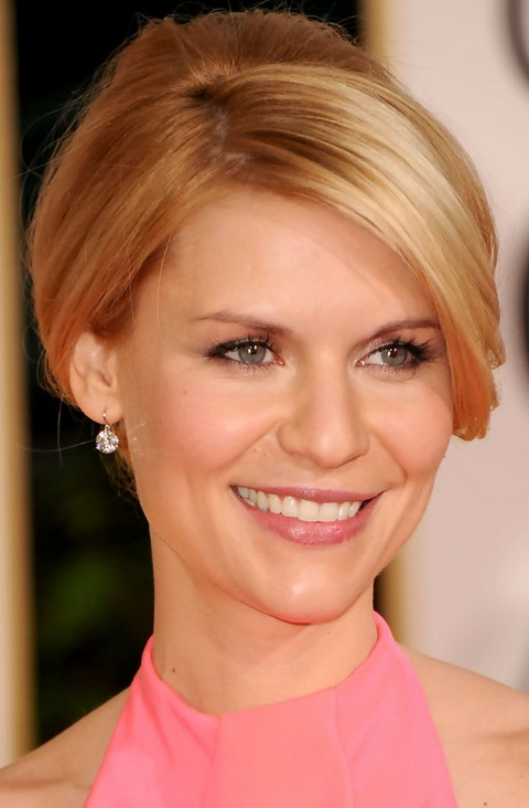 Claire Danes Hairstyles: Graceful French Twist