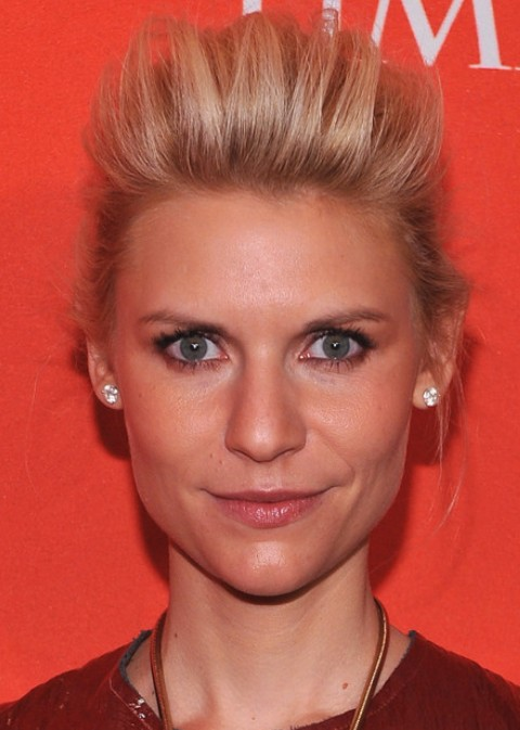 Claire Danes Hairstyles: Trendy Bobby Pinned Updo