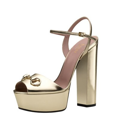 Claudie Metallic Platform Sandal, Silver