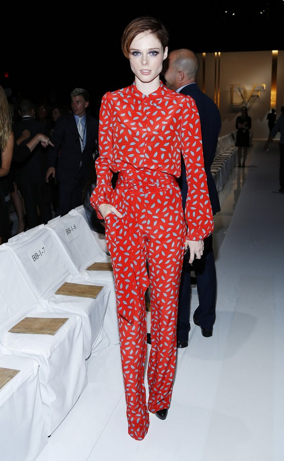 Coco Rocha Red Print Jumpsuit