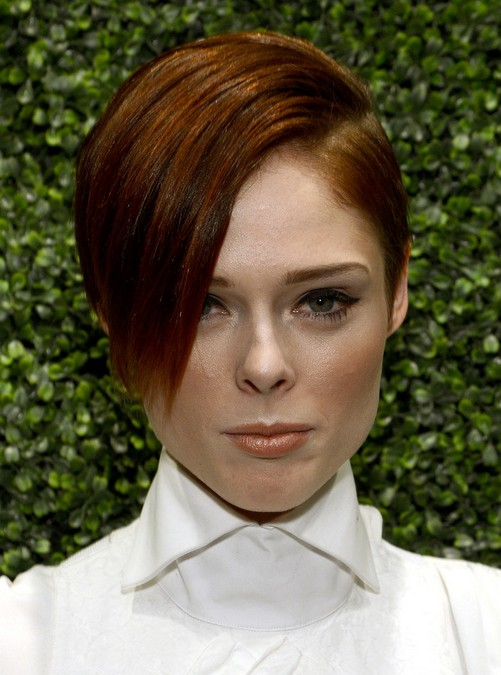 Coco Rocha's Short Haircuts: Side Bangs
