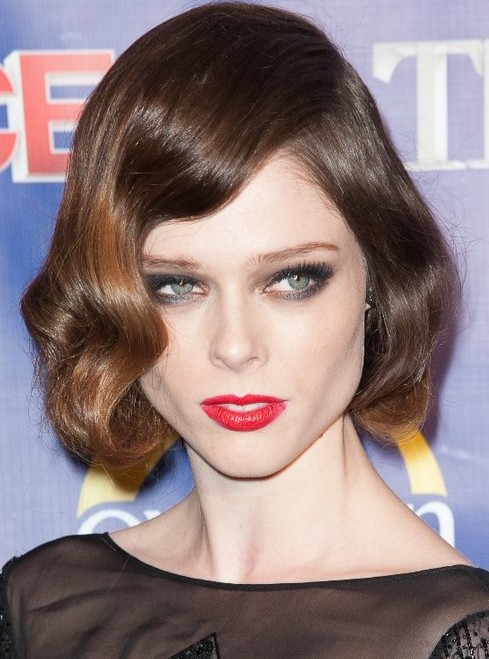Coco Rocha's Short Hairstyles: Wavy Hair
