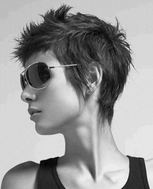 Time to Write: Cool short haircut for women – spiked pixie cut
