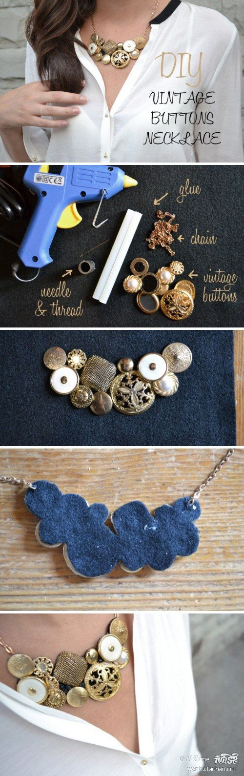 11 Easy DIY Buttons Jewelry Projects: Making Jewelry from
