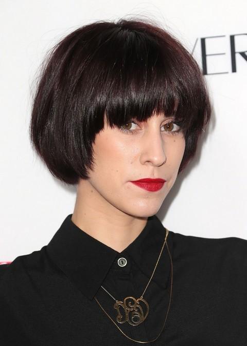 Devin Star Tailes Short Haircut - Modern Short Black Haircut with Full Bangs