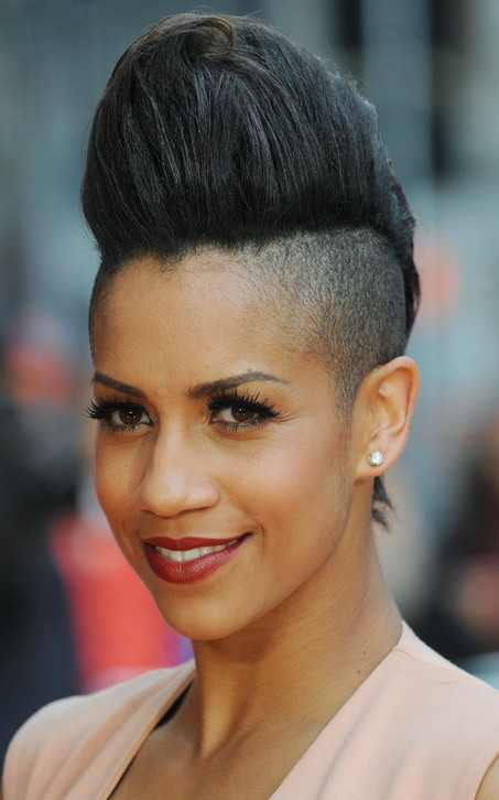 Dominique Tipper Black Quiff Hairstyles