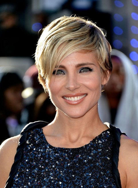 Elsa Pataky Short Haircut U2013 Simple Easy Short Hairstyle With Long Side  Swept Bangs