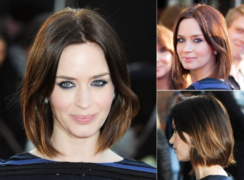 Emily-Blunt's short hairstyles
