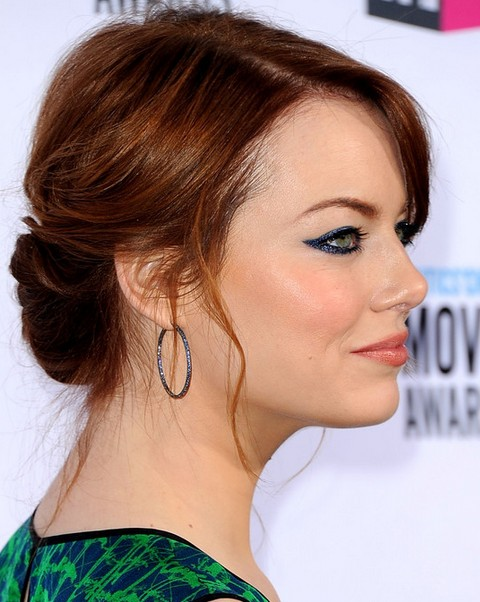 Emma Stone Hairstyles: Gorgeous Bobby Pinned Updo