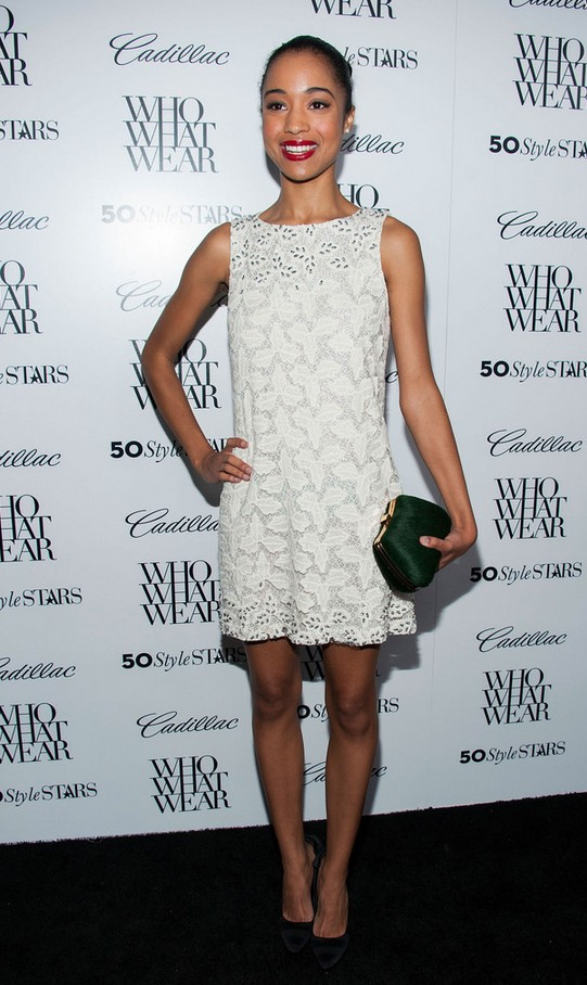 Erinn Westbrook Embroidered Whit Mini Shift Dress