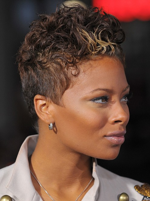 Eva Pigford Curly Quiff Hairstyle for Black Women