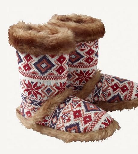 Farah Fairisle Boots