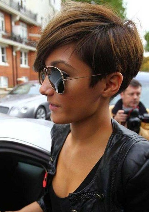 Frankie Sandford Short Haircut for 2014