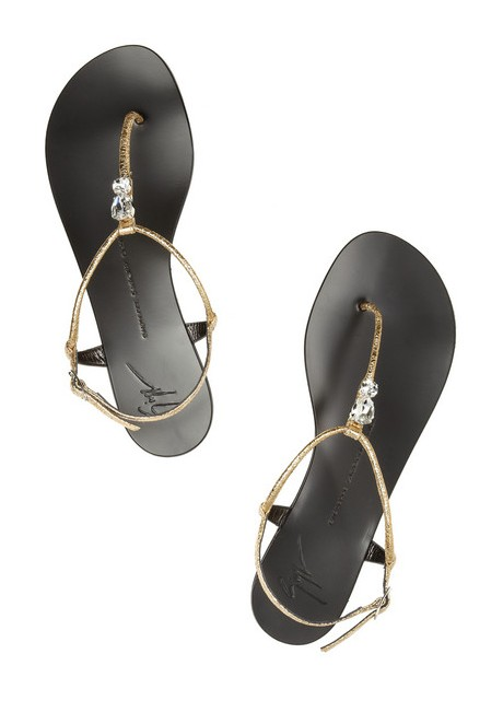 GUISEPPE ZANOTTI Crystal-embellished leather sandals