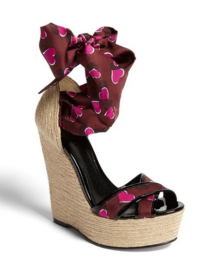 Gucci'Carolina' Print Espadrille Wedge Sandal