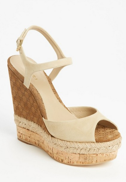 Gucci'Hollie' Wedge Sandal