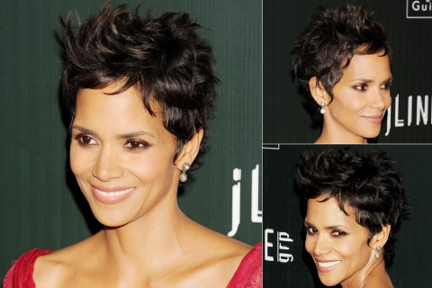 Halle Berry's Short-hairstyles