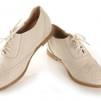 Ivory Flat Oxfords