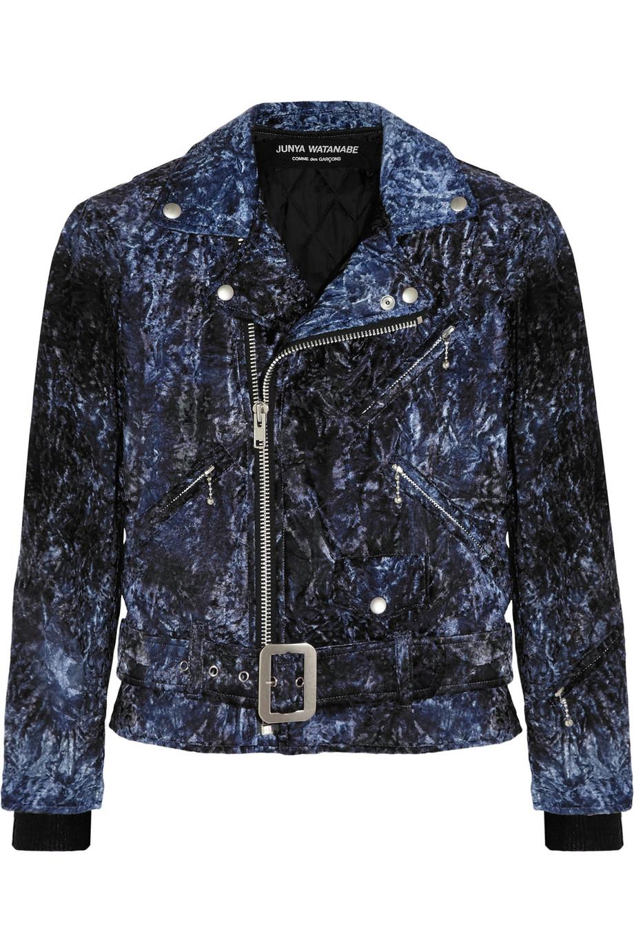 JUNYA WATANABE Dark-blue crushed-velvet