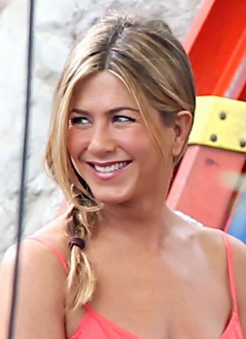 Jennifer Aniston Long Hairstyle: Sunny Braid