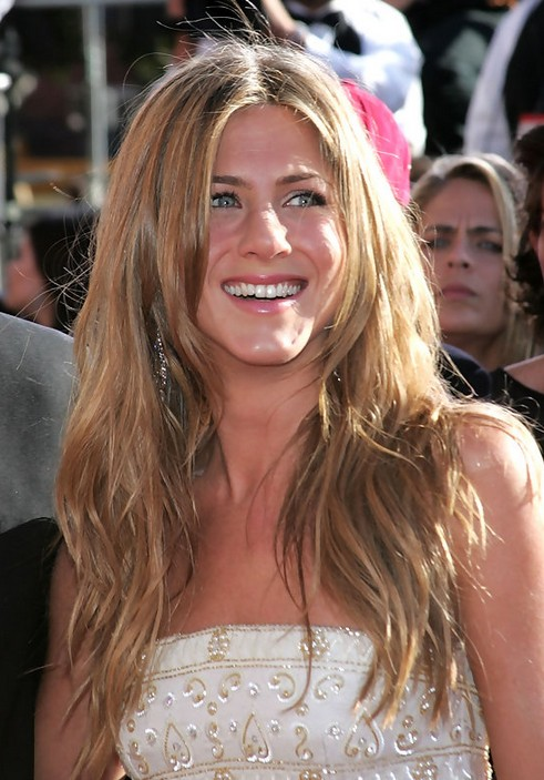 Jennifer Aniston Long Hairstyle: Wavy Hair with Center Part