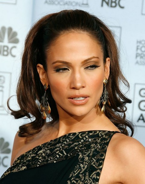 Jennifer Lopez Hairstyles: Sophiticated Ponytail for Elites