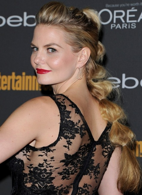 Jennifer Morrison Long Hairstyles: Twisted Ponytail Hairstyle