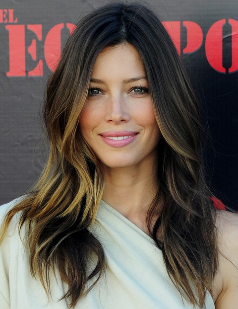 Jessica Biel Long Hairstyle: Ombre Haircut