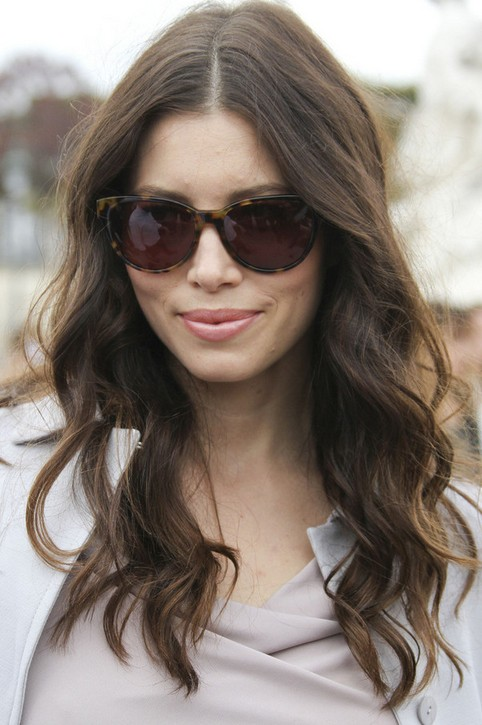 Jessica Biel Long Hairstyle:Soft Waves