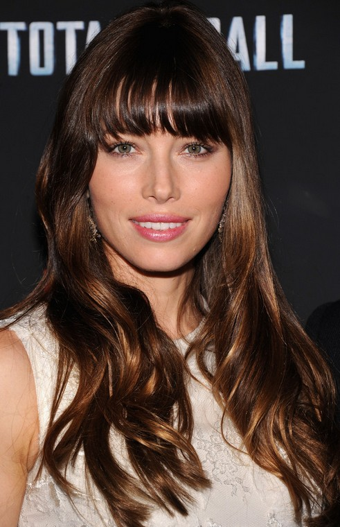 Jessica Biel Long Hairstyle: Wavy Chocolate Haircut