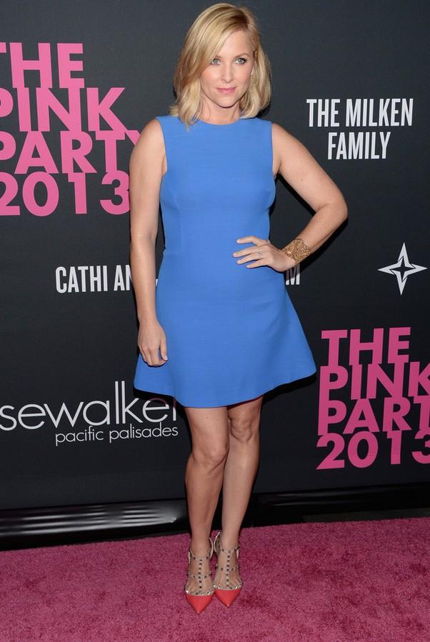 Jessica Capshaw Plain Blue Mini Dress