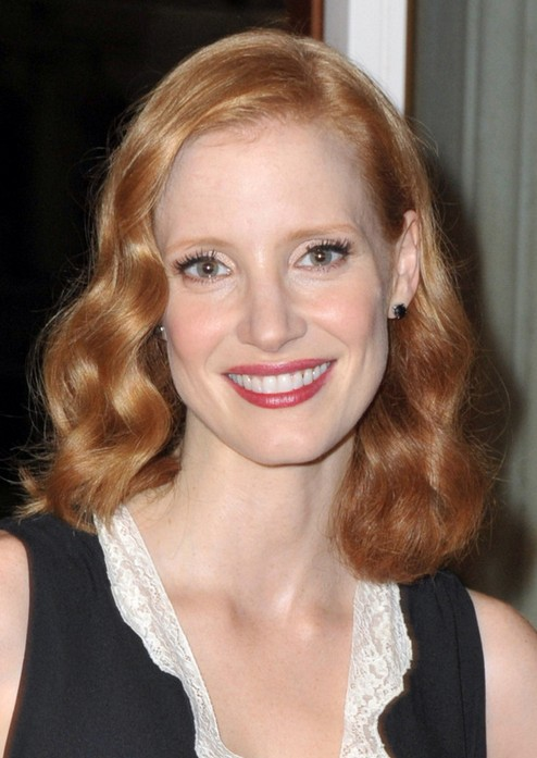 Jessica Chastai Mid-length Hairstyle: Lovely Curls