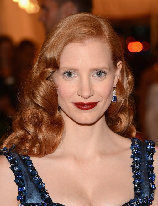 Jessica Chastain Long Hairstyle: Big Waves