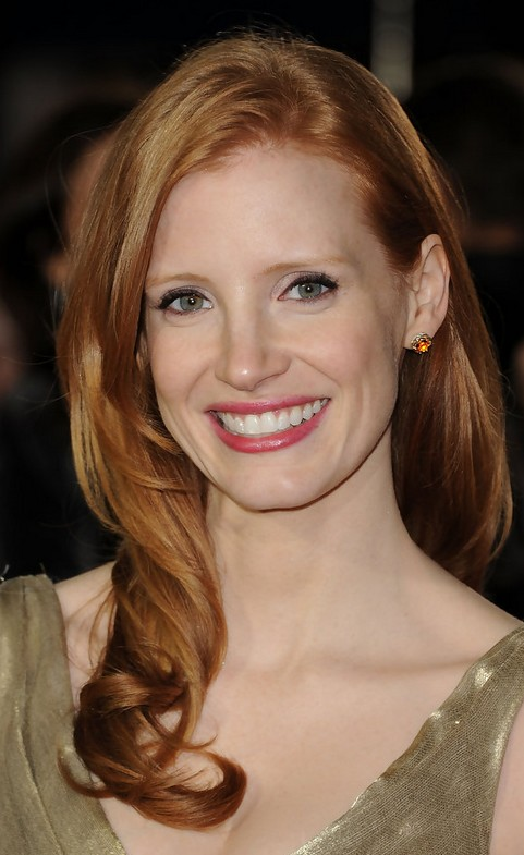 Jessica Chastain Long Hairstyle: Red Curls