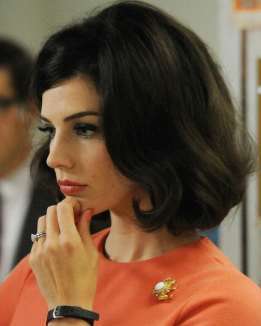 Jessica Pare's Short Hairstyles: Big Wavy Hair