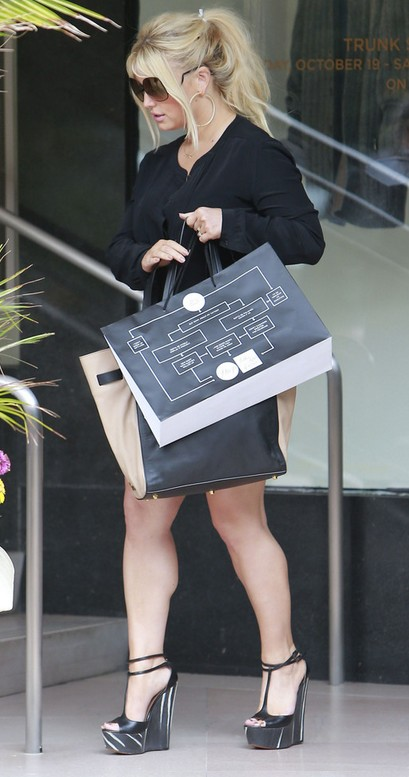 Jessica Simpson in Wedges