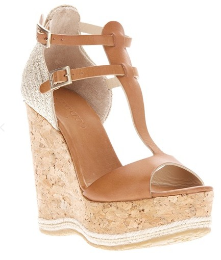 Jimmy Choo'Preya' wedge sandal