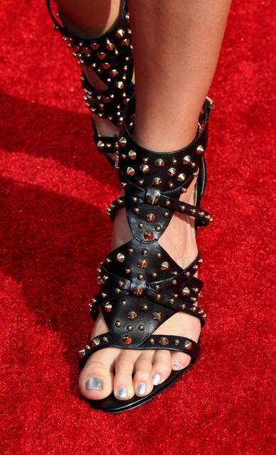 Justine Ezarik's Gladiator Heels