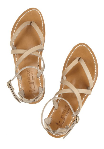 K JACQUES WT TROPEZ Epicure multi-strap leather sandals