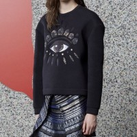 KENZO Black Eye-embroidered Sweater