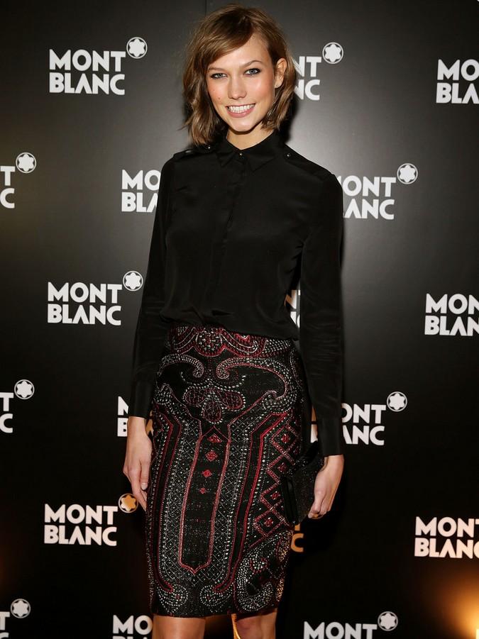 Karlie Kloss Black Button Down Shirt by Prabal Gurung