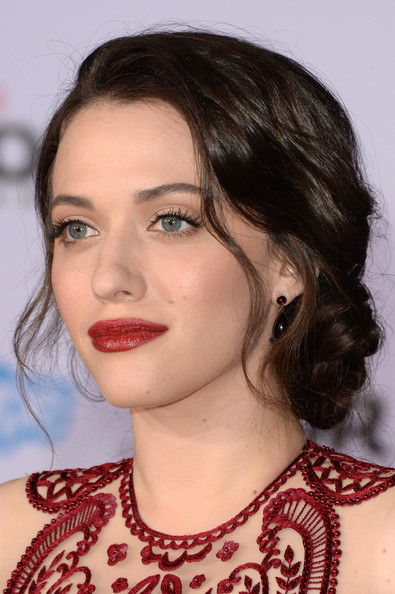 Braided Hairstyle Kat Dennings Twisted Knot Bun For A Simple Yet