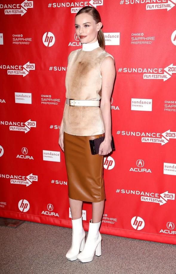 Kate Bosworth Belted Turtleneck Calvin Klein
