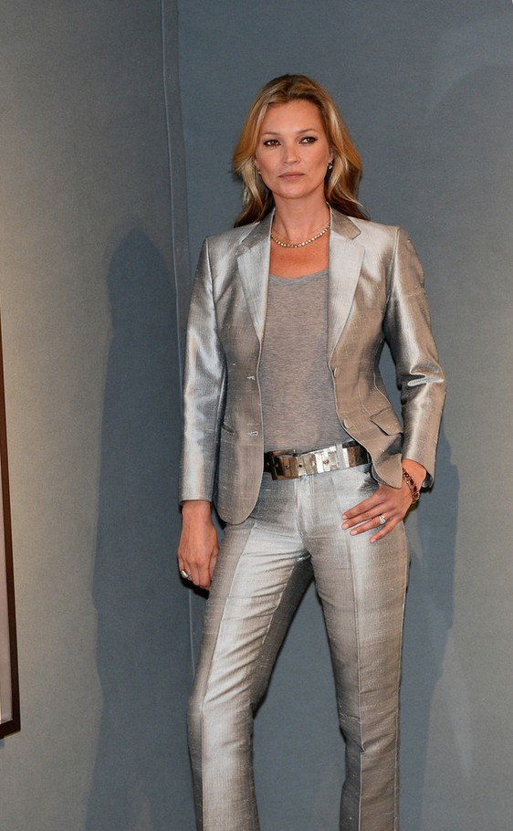 Kate Moss Silver Pantsuit