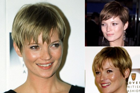 Kate Moss' short hairstyle