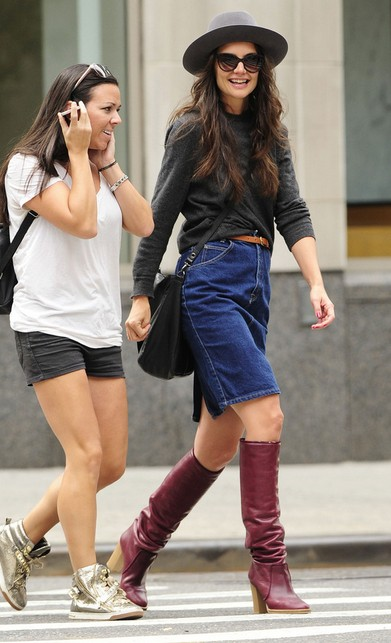Katie Holmes' Knee High Boots