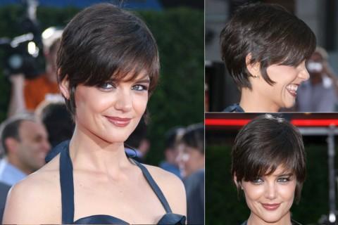 Katie Holmes' Short hairstyles