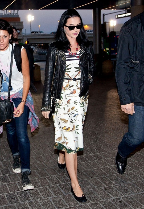 Katy Perry Cool Black Leather Jacket