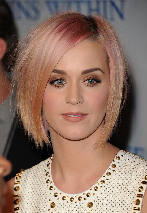 Katy Perry Short Pink Bob Hairstyle - Short Straight Haircut - photo #45