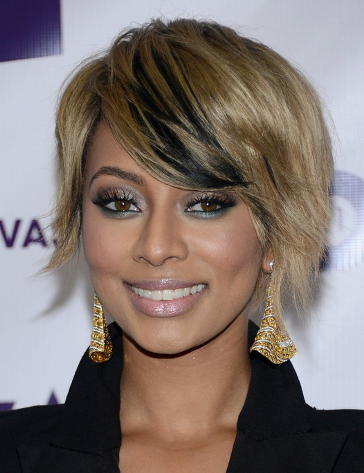 Keri Hilson's Short Hairstyles: Blonde with Black